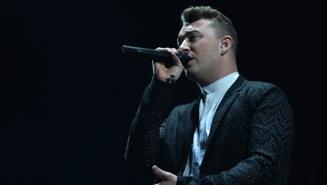 Sam Smith performs with Disclosure at Coachella  on April 13 in Indio, Calif.