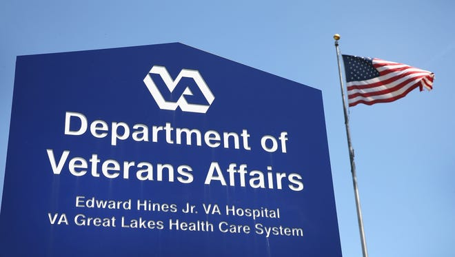 A sign marks the entrance to the Edward Hines Jr. VA Hospital in Hines, Ill.