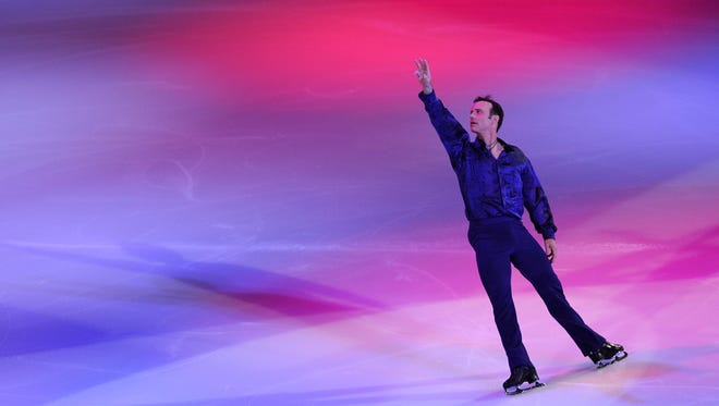 "Brian Boitano skates during the P&G & Wal-Mart ""Tribute to American Legends of the Ice"" at Izod Center on December 11, 2013 in East Rutherford, New Jersey."