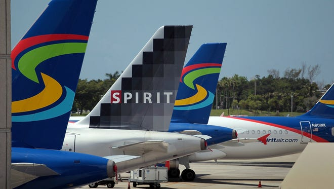 Spirit Airlinesplanes at the Fort Lauderdale airport on June 14, 2010.