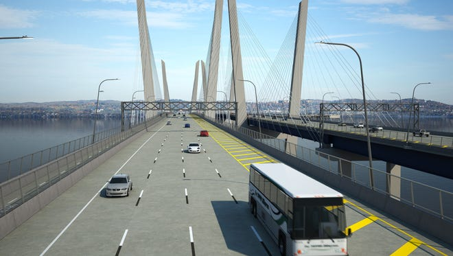 A rendering of the new Tappan Zee Bridge.