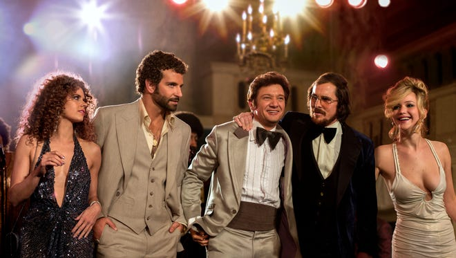 'American Hustle,' starring, from left, Bradley Cooper, Jeremy Renner, Christian Bale and Jennifer Lawrence has seen the biggest post-nomination box office bump.
