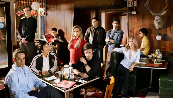 Here's the cast of 'Heroes' in 2008: Adrian Pasdar as Nathan Petrelli, Jack Coleman as H.R.G., Masi Oka as Hiro Nakamura, Zachary Quinto as Sylar, Hayden Panettiere as Claire Bennet, Milo Ventimiglia as Peter Petrelli, Greg Grunberg as Matt Parkman, Sendhil Ramamurthy as Mohinder Suresh, Ali Larter as Niki Sanders, Leonard Roberts as D.L. Hawkins, Noah Gray-Cabey as Micah Sanders.
