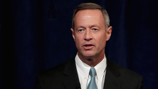 Maryland Gov. Martin O'Malley addresses a conference commemorating the 10th anniversary of the Center for American Progress at the St. Regis Hotel in Washington, D.C. , on Oct. 24.