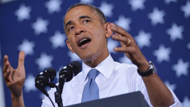 President Obama in Wisconsin.