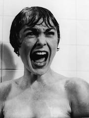 Janet Leigh screams for her life in the famous shower scene from Alfred Hitchcock's 'Psycho.'