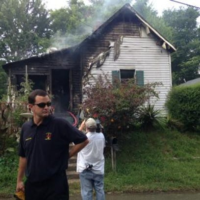 Fire crews worked to put out a house fire started by