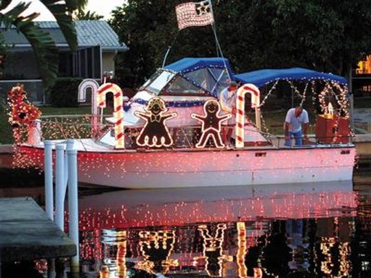Saturday's Cape Coral Holiday Boat-A-Long features a parade of decorated, illuminated boats.