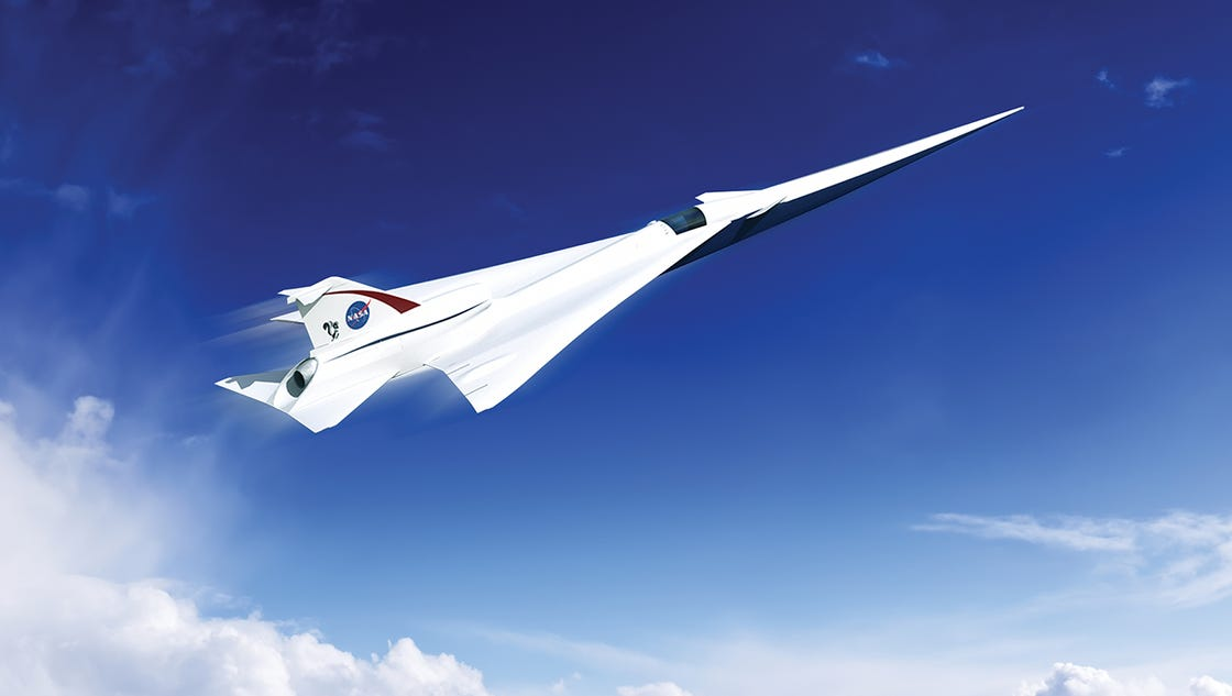 NASA unveils supersonic airliner of the future