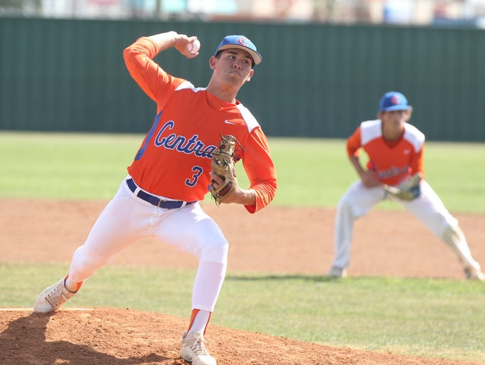 San Angelo Central High School starting pitcher Rance