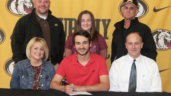 Murphy High School Senior third baseman Royce Peterson signed with Emmanuel College in Franklin Springs, Georgia.
