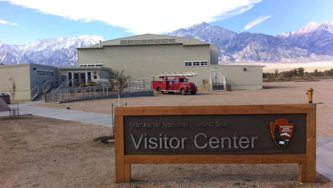 The Manzanar War Relocation Center was one of 10 camps where more than 110,000 Japanese Americans were interned during World War II. The camp and museum are located on the west side of U.S. 395, 9 miles north of Lone Pine, Calif., and 6 miles south of Independence, Calif.