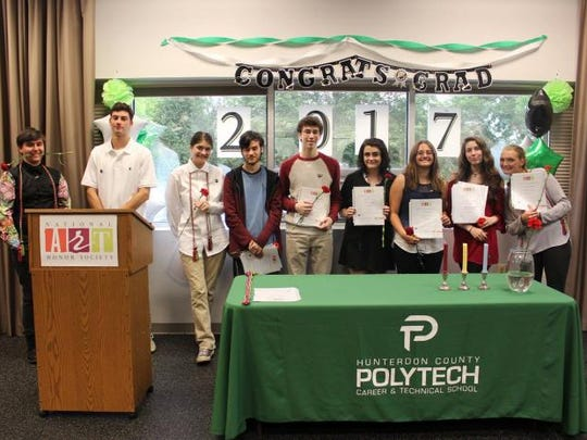 Hunterdon County Polytech's high-achieving artists inducted into the National Art Honor Society