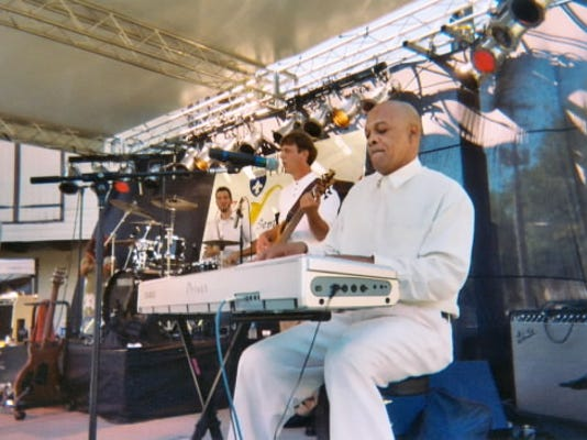 Terrance Webb plays the keyboard and sings in the jazz trio, Group Therapy. Webb has been tickling the ivories since he was 17.