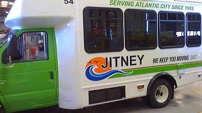 An Atlantic City jitney. Photo Courtesy of the Atlantic City Convention & Visitors Bureau. (SMALL RES IMAGE. DO NOT USE BIG)