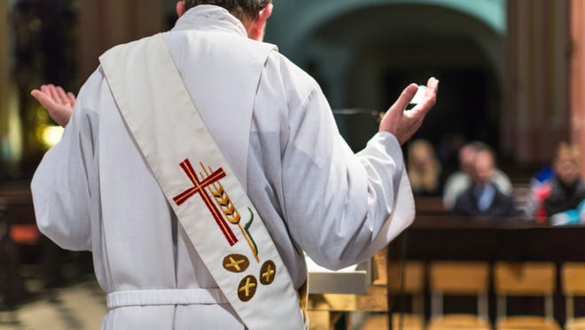 A priest during mass.