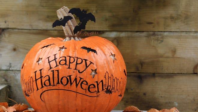 Happy Halloween pumpkin. Also available in vertical.