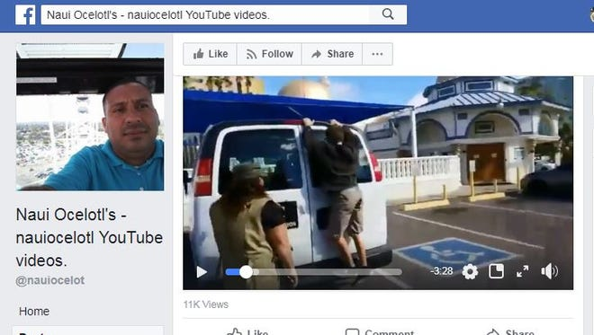 Naui Oceloti posted an edited version of Tahnee Gonzales' video of her and Liz Dauenhauer snatching items from a Tempe mosque, urging children to join them in taking printed materials and mocking the Muslim faith.