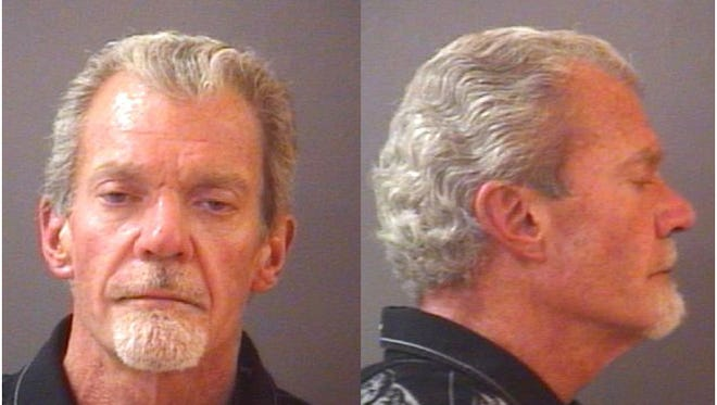 Booking mug of Indianapolis Colts owner Jim Irsay, arrested March 16, 2014 in Carmel on preliminary charges of impaired driving and possession of controlled substances. Booking mug from Hamilton County Sheriffs Department.