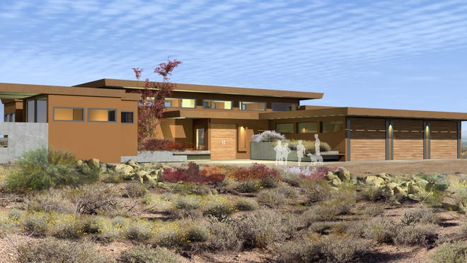 Taliesin West architects, using the principles of Frank Lloyd Wright, have been enlisted to design houses for the 982-acre Cahava Springs development in Cave Creek.