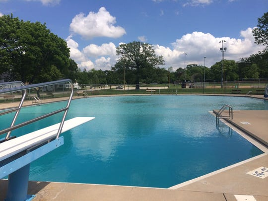 The newly filled swimming pool at Legion Park in De Pere on Thursday afternoon, May 26, 2016. De Pere's outdoor pools at Legion and VFW parks will open for the season at 1 p.m. June 11.