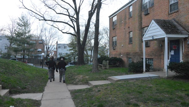 Residents of Buildings G, where four people died Friday, as well as Building F were evicted Wednesday at Evergreen Apartments at Riverside Heights near Elsmere on Wednesday, March 30, 2016.