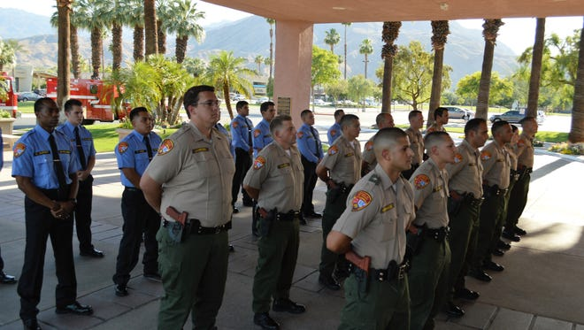 College of the Desert cadets, police in front and fire in the back, recently were recognized as the Public Safety Academy Awards ceremony.