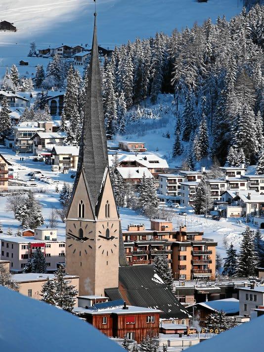 World Economic Forum 2015: View of Davos