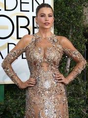 Sofia Vergara at the Golden Globe Awards in January