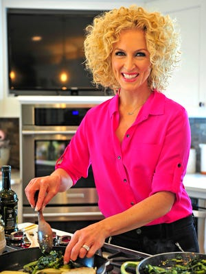 Kimberly Schlapman of Little Big Town poses for a photograph at her house in Brentwood on April 10.