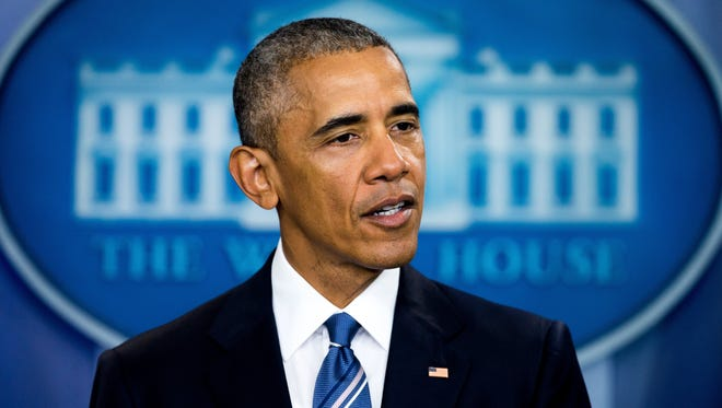 President Obama speaks in the White House briefing room on June 23, 2016, on the Supreme Court decision on immigration.