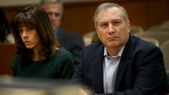 Laura Rideout, and her boyfriend, Paul Tucci, listen to Matt  Parrinello , Attorney for Colin Rideout detail the discovery he has received for the prosecution, over 60,000 pages of paper discovery, and over 100 hours of video surveillance.