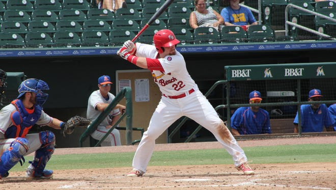 While there will be many new faces in the Palm Beach Cardinals dugout this year, this will be another go-around for others. Pictured is catcher Brian O'Keefe.