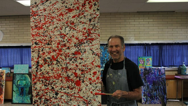 Jason Wilk of the Hunterdon Developmental Center will be among 30 developmentally disabled artists who will exhibit their work through Aug. 9 at The Strand salon in Easton, Pa.