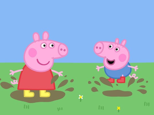 Peppa Pig and brother George indulge in a favorite