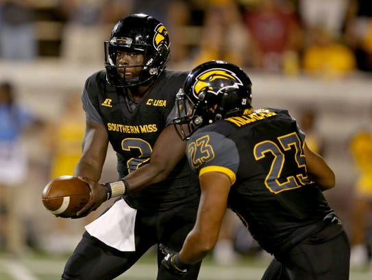 Southern Miss running back Collin Kilcrease began his