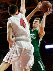 Newfield's Patrick Banfield attempts to score March