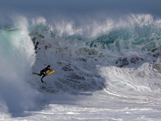 AP APTOPIX Southern California Storm Surf