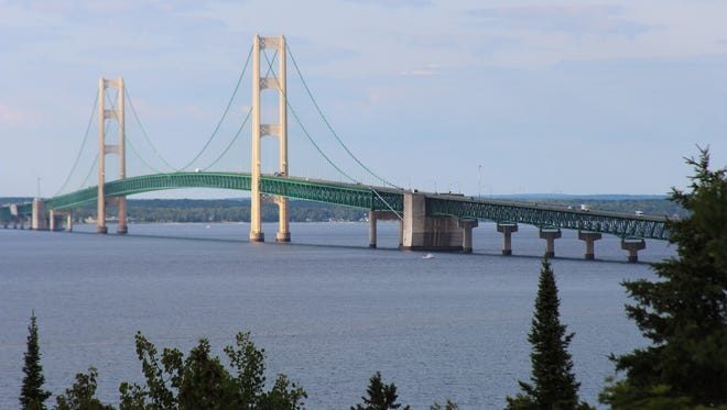 Few travelers know of this great photo-op spot of the Mackinac Bridge from Straits State Park bridge overlook point in St. Ignace.