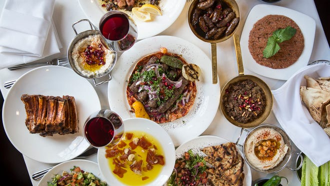 A spread of Lebanese fare from the Phoenicia restaurant in Birmingham.