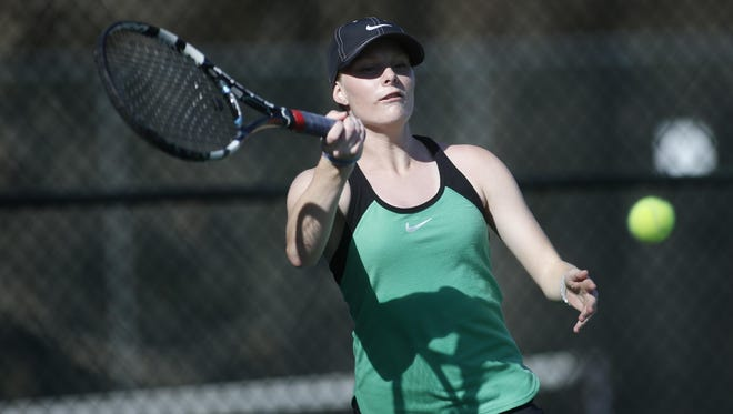 Anna McDonald was the 2014 All-Big Bend Player of the Year as a freshman at Leon. She plays No. 2 singles and No. 1 doubles for Lincoln. She is a triplet, along with brothers Ryan and Evan.