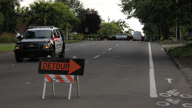 A detour is in place while Salem police investigate a pedestrian death on Liberty St SE.