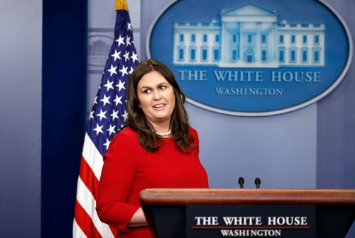 Sarah Sanders to fill in for Trump at W.H. Correspondents Dinner
