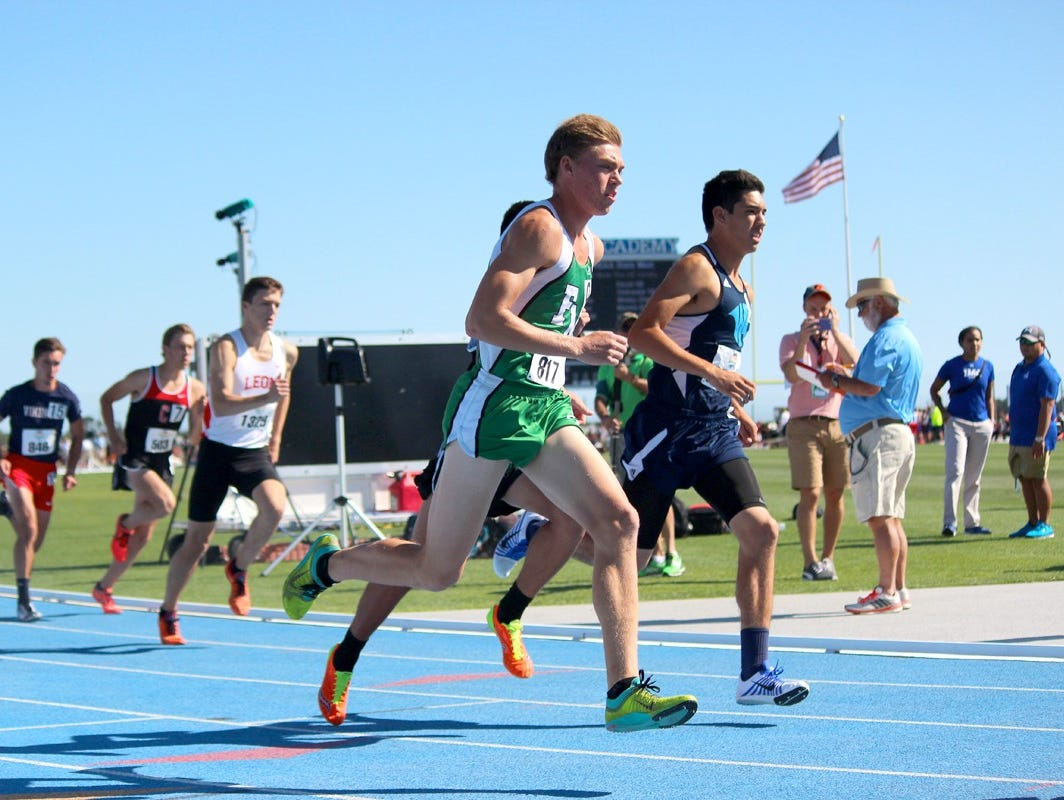 Fort Myers junior Evan Babatz finished second in the 800-meter run on Friday at the FHSAA track and field championships at IMG Academy in Bradenton.