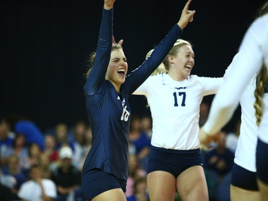 BYU freshman volleyball player and Palm Springs grad Mary Lake set the single-season digs record for the Cougars at 547.