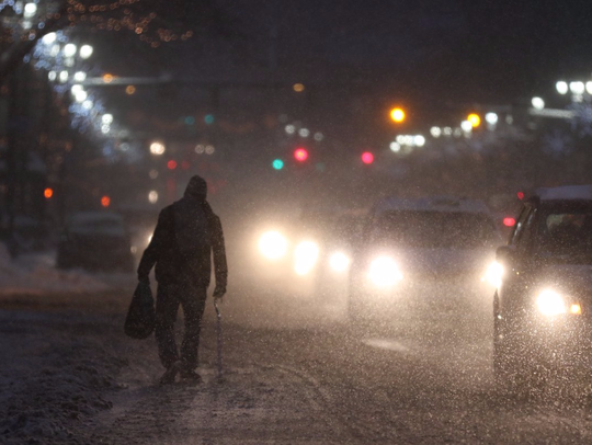 Roads and sidewalks are still being early Tuesday.
