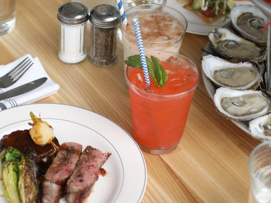 Strawberry Basil Lemonade at Parker's Garage.