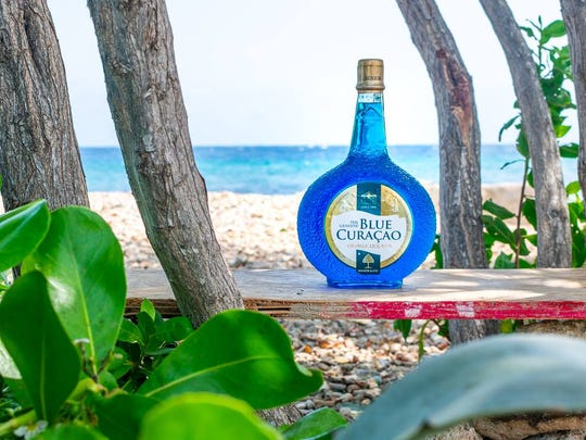 One of the most famous liqueurs in the world, Blue Curacao is flavored with the dried peels of the Laraha orange grown only on the island.