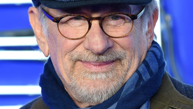 """Steven Spielberg attends the London premiere of """"Ready Player One"""" on March 19, 2018."""
