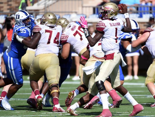 NCAA Football: Florida State at Duke